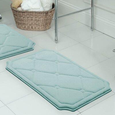 Gertie Premium Micro Plush Memory Foam Bath Mat Color: Aqua, Size: 32 x 20
