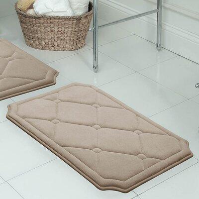 Gertie Premium Micro Plush Memory Foam Bath Mat Color: Linen, Size: 24 x 17