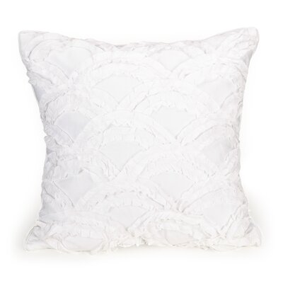 Twill Ruffle Scallop Decorative Cotton Throw Pillow