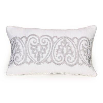 Twill Ruffle Divine Damask Decorative Cotton Lumbar Pillow