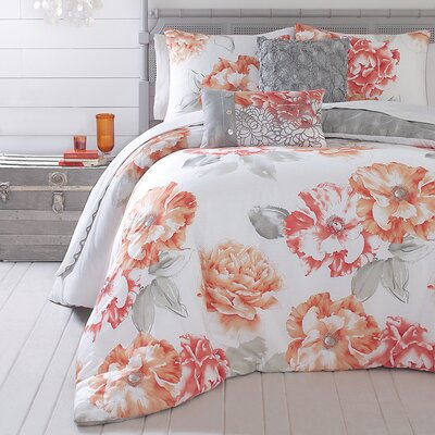 Jessica Simpson Home Golden Peony Bedding Collection (2 Pieces) - Size: King