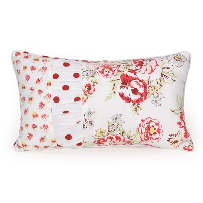 Flea Market Floral Decorative Cotton Lumbar Pillow
