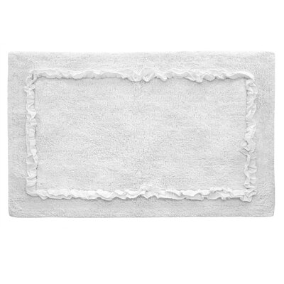 Ruffled Bath Rug Color: White