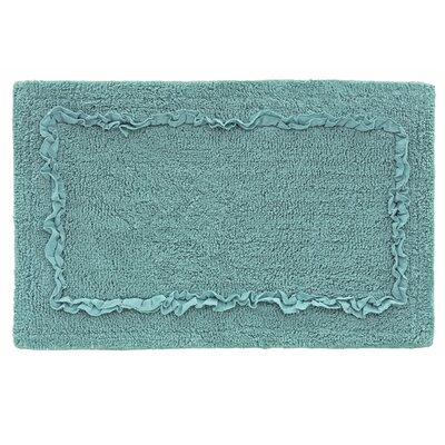 Ruffled Bath Rug Color: Aqua Sea