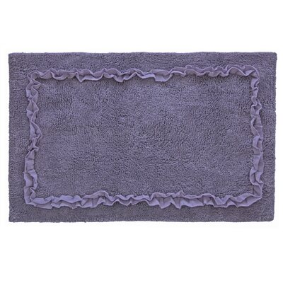 Ruffled Bath Rug Color: Purple