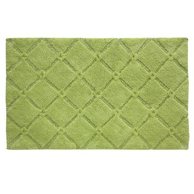 Trellis Bath Mat Color: Celery Green