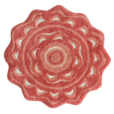 Medallion Spice Coral Area Rug