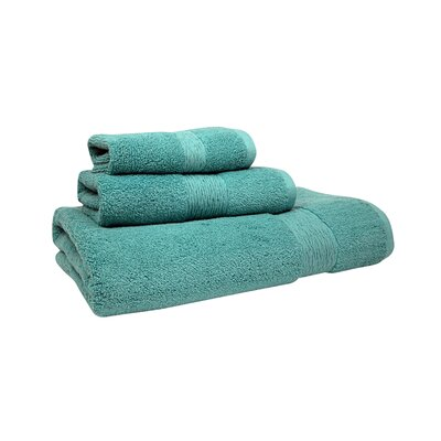 Signature Hand Towel Color: Aqua Sea