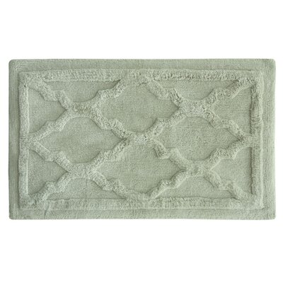Penelope Bath Mat Color: Rainy day, Size: 34 L x 21 W