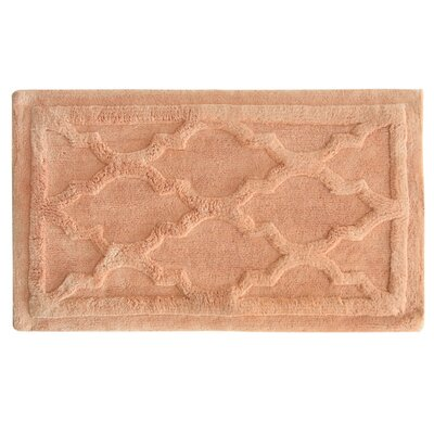 Penelope Bath Mat Color: Shrimp, Size: 40 L x 24 W