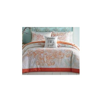 Scroll Ombre 3 Piece Comforter Set Size: Full / Queen