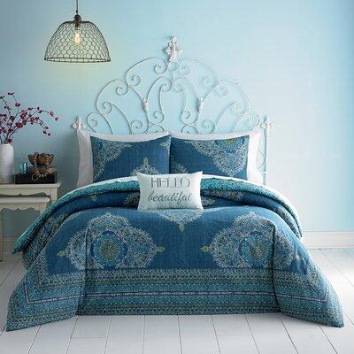 Aylin Reversible Comforter Set Size: King