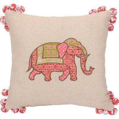 Amrita Medallion Elephant Tassel Cotton Throw Pillow