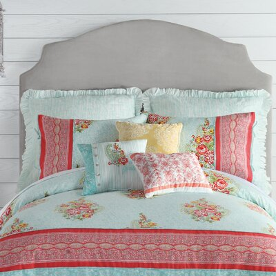 Ellie Reversible Comforter Set Size: Queen
