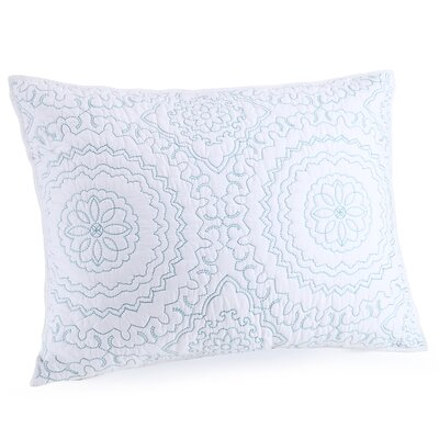 Medallion Sham Color: Blue