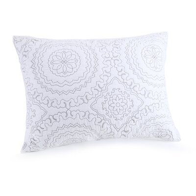 Medallion Sham Color: Gray