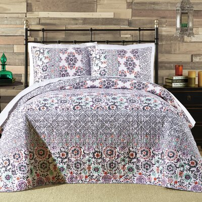 Aiah Bohemian Quilt Size: King