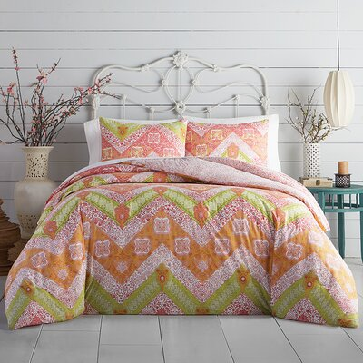 Bali Chevron Comforter Set Size: Full/Queen