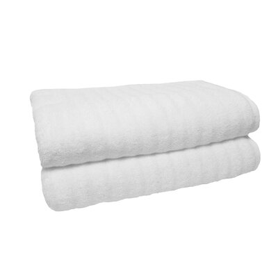 Sculpted Bath Towel Color: White
