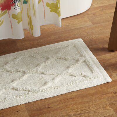 Penelope Bath Mat Size: 24 L x 17 W, Color: White