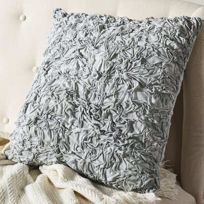 Golden Peony Textured Decorative Cotton Throw Pillow