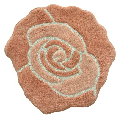 Bloom Bath Rug Color: Coral