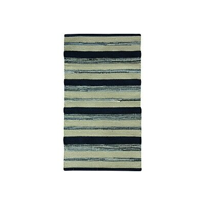 Palmer Cotton Indigo blue/Gray Area Rug