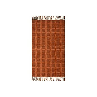 Portola Cotton Orange Area Rug