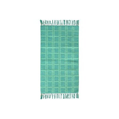 Portola Cotton Aqua Area Rug Rug Size: Rectangle 18 x 28