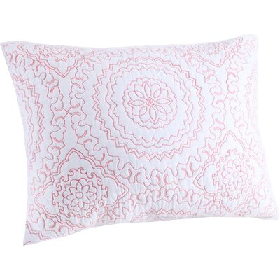 Medallion Sham Color: Coral