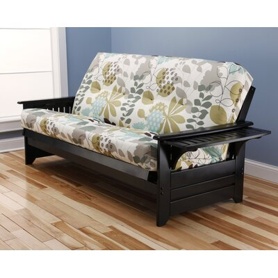 Phoenix English Garden Futon and Mattress Frame Finish: Black