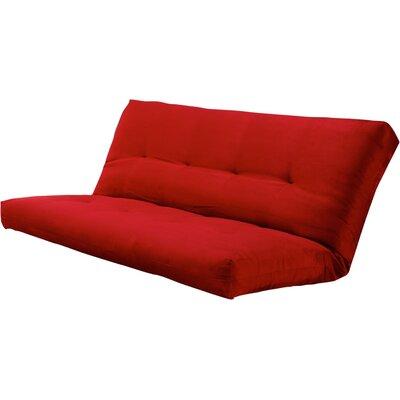 Verti 8 Coil Full Futon Mattress Color: Suede Red
