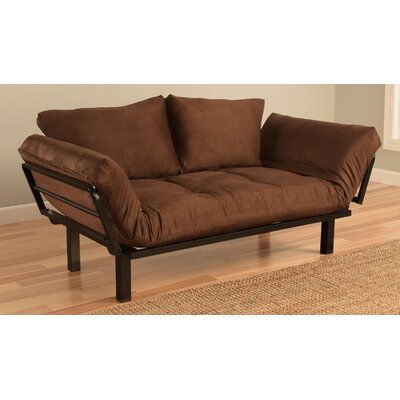 Everett Convertible Futon Lounger and Mattress Upholstery: Chocolate
