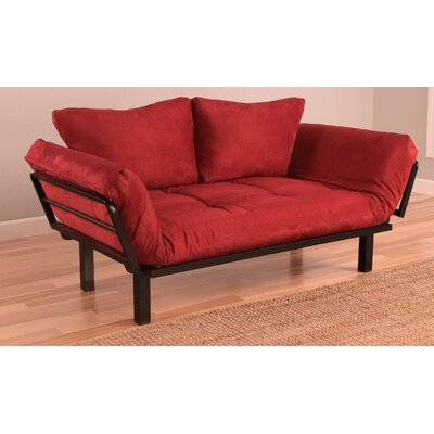 Everett Convertible Futon and Mattress Upholstery: Red