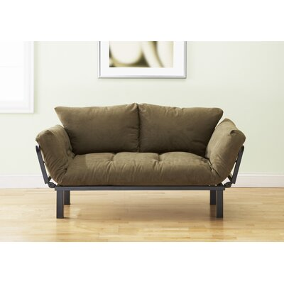 Everett Convertible Futon and Mattress Upholstery: Olive