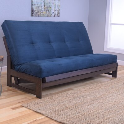 Aspen Futon and Mattress Upholstery: Suede Navy