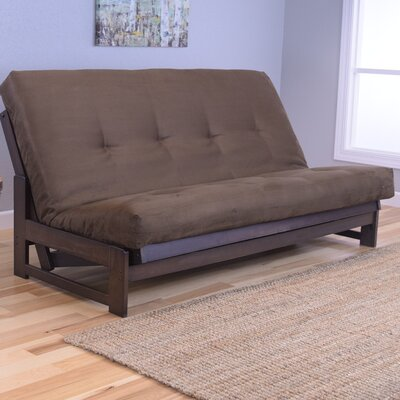 Aspen Futon and Mattress Upholstery: Suede Chocolate