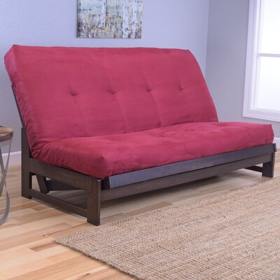 Aspen Futon and Mattress Upholstery: Suede Red
