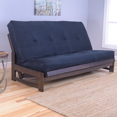 Aspen Futon and Mattress Upholstery: Suede Black