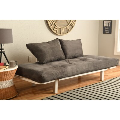 Everett Convertible Lounger Futon and Mattress Upholstery: Suede Gray