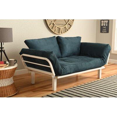 Everett Convertible Lounger Futon and Mattress Upholstery: Suede Navy
