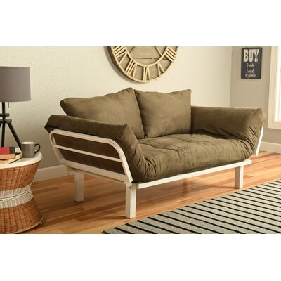 Everett Convertible Lounger Futon and Mattress Upholstery: Suede Olive