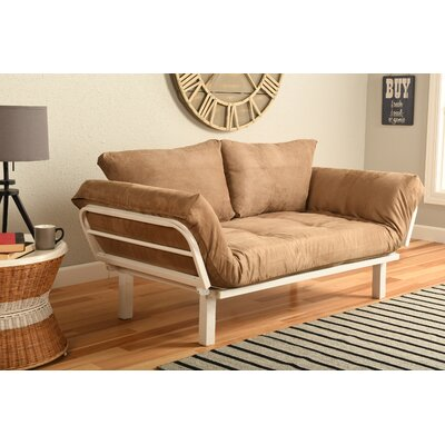 Everett Convertible Lounger Futon and Mattress Upholstery: Suede Peat