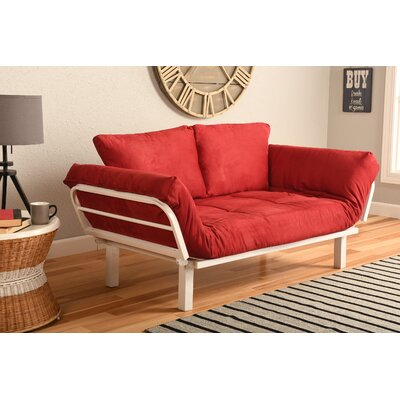 Everett Convertible Lounger Futon and Mattress Upholstery: Suede Red