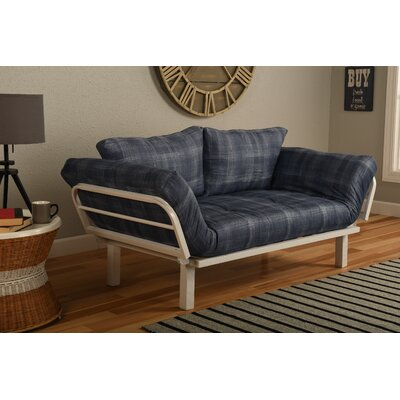 Everett Convertible Lounger in Dungaree Futon and Mattress