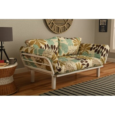 Ebern Designs EBND5035 Everett Convertible Lounger Garden Futon and Mattress