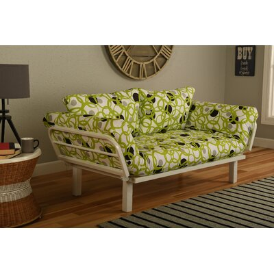 Ebern Designs EBND5036 Everett Convertible Lounger in Full Circle Futon and Mattress