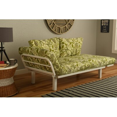 Ebern Designs EBND5038 Everett Convertible Lounger in Lahania Luau Futon and Mattress