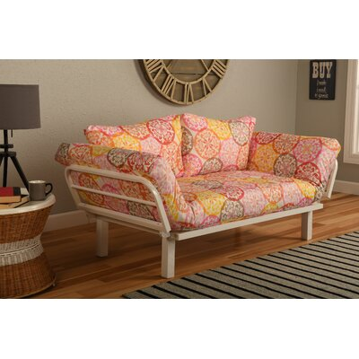 Everett Convertible Lounger in Olivia Futon and Mattress