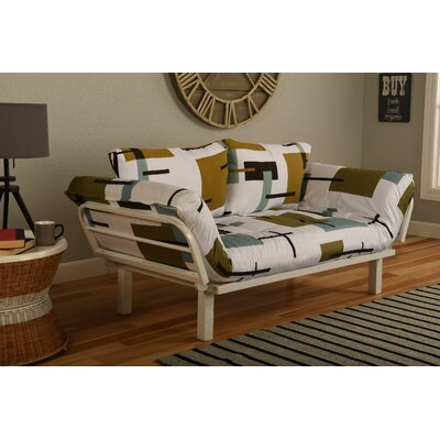 Ebern Designs EBND5040 Everett Convertible Lounger in Reconstruction Futon and Mattress